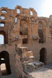 Colosseum tunisino - arcos dilapidados Fotografia de Stock Royalty Free