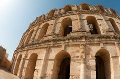 Colosseum tunisino - arcos dilapidados Fotografia de Stock