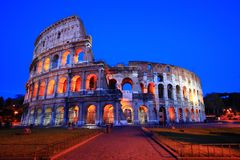 Colosseum in Twilight Stock Images