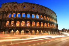Colosseum at twilight Stock Image