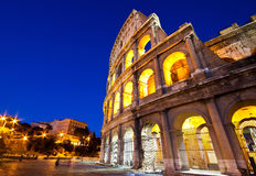 Colosseum at twilight Stock Photography