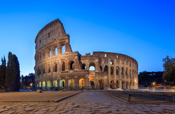 The Colosseum. Twilight of the Coliseum in Rome, Italy royalty free stock photography
