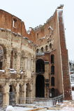 Colosseum under snow Royalty Free Stock Images