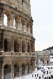 Colosseum under snow Stock Photos