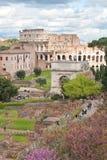Colosseum van roman forum Stock Fotografie