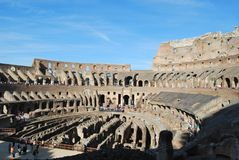 Colosseum van Rome in lazio in Italië Stock Foto's