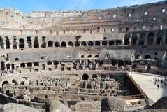 Colosseum van Rome in lazio in Italië stock fotografie