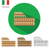 Colosseum vector icon set Royalty Free Stock Images