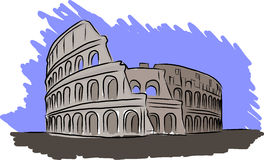 Colosseum vector sketch Stock Photos