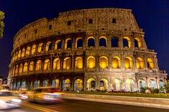 Colosseum vid natten, Rome Royaltyfri Fotografi