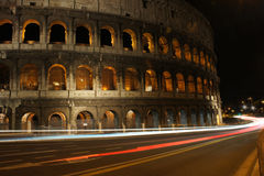 Colosseum vid natten Rome Royaltyfri Bild