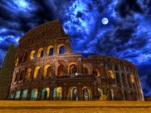 Colosseum vid natten Rome Italien Royaltyfri Foto
