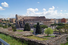 Colosseum view from Palatine hill Stock Photo