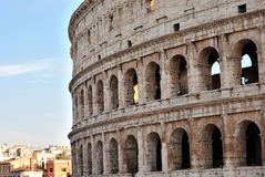 Colosseum. View of the colosseum in Rome Royalty Free Stock Photo