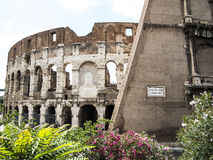 Colosseum view, Rome, Italy. Colosseum side view, Rome, Italy Royalty Free Stock Photos