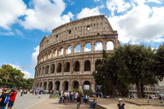 Colosseum View with Trees Stock Photo