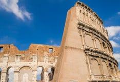 Colosseum, vista laterale posteriore Fotografia Stock Libera da Diritti