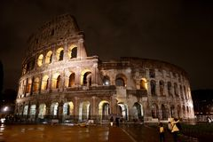 Colosseum w evening Rzym obrazy royalty free