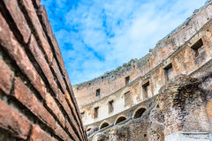 Colosseum walls in eternal city Rome Italy. Stock Images
