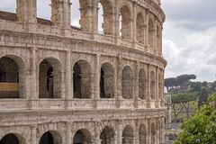 Colosseum walls in Rome Stock Image