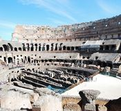 Colosseum was built in the first century in Rome city. Royalty Free Stock Image
