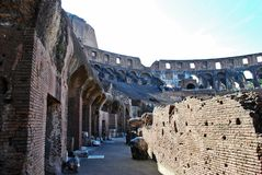 Colosseum was built in the first century in Rome city. Stock Images