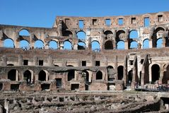 Colosseum was built in the first century in Rome city. Stock Photography