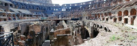 Colosseum was built in the first century in Rome city. Royalty Free Stock Photo