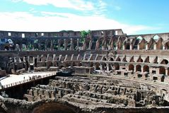 Colosseum was built in the first century in Rome city. Italy. Rome. Colosseum was built in the first century AD by the Emperor Vespasian Royalty Free Stock Images