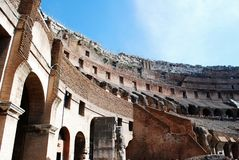 Colosseum was built in the first century in Rome city. Italy. Rome. Colosseum was built in the first century AD by the Emperor Vespasian Stock Photo