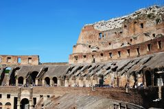 Colosseum was built in the first century in Rome city. Italy. Rome. Colosseum was built in the first century AD by the Emperor Vespasian Stock Image