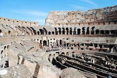 Colosseum was built in the first century in Rome city. Italy. Rome. Colosseum was built in the first century AD by the Emperor Vespasian Stock Photography