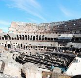 Colosseum was built in the first century in Rome city. Stock Photos