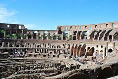 Colosseum was built in the first century in Rome city. Royalty Free Stock Images
