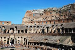 Colosseum was built in the first century in Rome city. Italy. Rome. Colosseum was built in the first century AD by the Emperor Vespasian Stock Photos