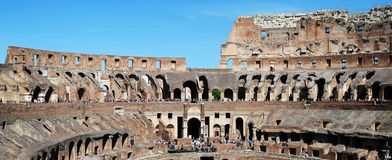 Colosseum was built in the first century in Rome city. Italy. Rome. Colosseum was built in the first century AD by the Emperor Vespasian Royalty Free Stock Photo