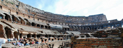 Colosseum was built in the first century in Rome city. ROME, ITALY - MAY 29: Colosseum was built in the first century AD by the Emperor Vespasian. Tourists in Stock Photography