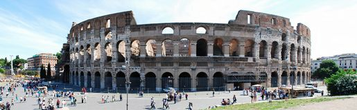 Colosseum was built in the first century in Rome city. Royalty Free Stock Photos