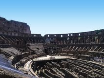 Colosseum was Flavian Amphitheatre door Vespasian in Rome wordt gebouwd dat stock fotografie