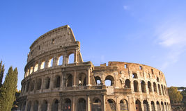 Colosseum Wide Angle. Wide angle view of the Colosseum in Rome, Italy Royalty Free Stock Photos