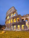 colosseum wieczór Rome Fotografia Stock