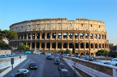 Colosseum, world famous landmark in Rome. Italy. Colosseum is largest ancient Roman amphitheater Royalty Free Stock Image