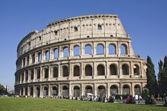 The Colosseum, the world famous landmark in Rome Stock Images