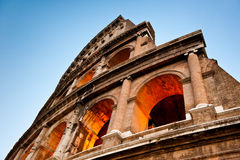 Colosseumen, aftonsikt, Rome, Italien Arkivbild