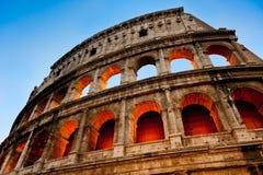 Colosseumen, aftonsikt, Rome, Italien Arkivfoton