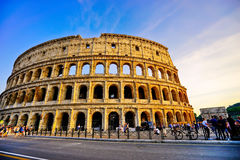 colosseumskymning rome Arkivbild