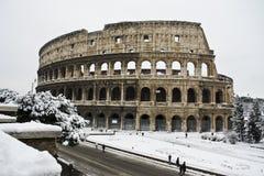 colosseumsnow under Arkivbilder
