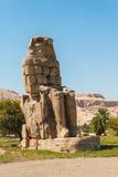 Colossi av Memnon, dal av konungar, Luxor, Egypten Arkivfoto