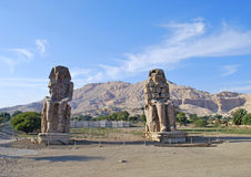 Colossi de Memnon Imagem de Stock Royalty Free