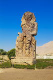 Colossi de Memnon Egipto Fotografia de Stock Royalty Free